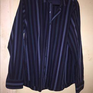 Large Men's Bugatchi Front Button Dress Shirt